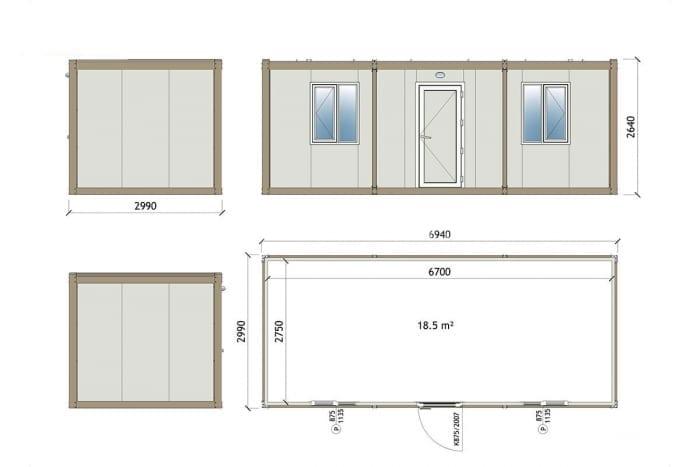 1002 Container technische Zeichnung
