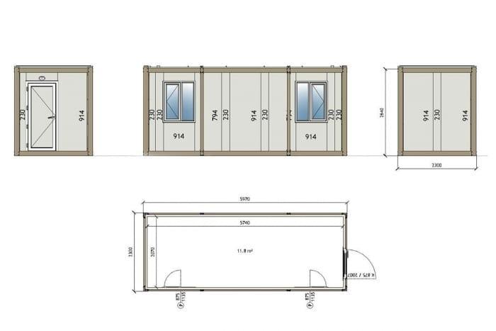 1003 Container technische Zeichnung