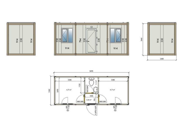 3002 Container technische Zeichnung