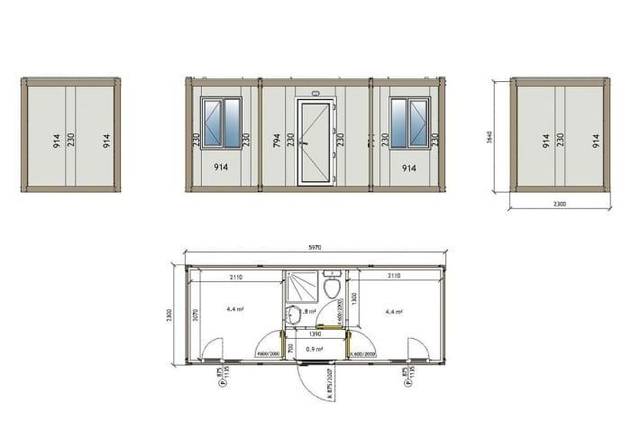3005 Container technische Zeichnung