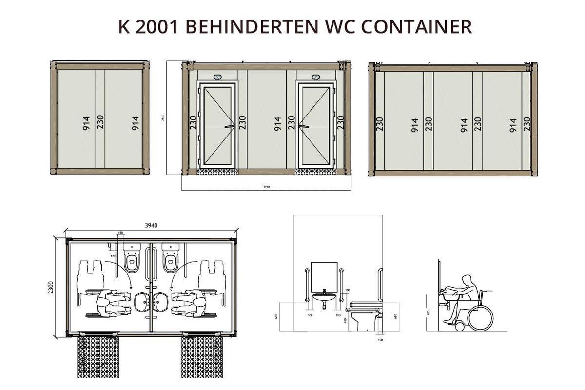 K2001 Behinderten WC Container