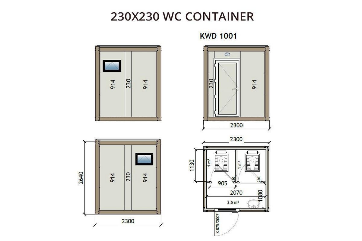 KWD1001 230x230 WC Container