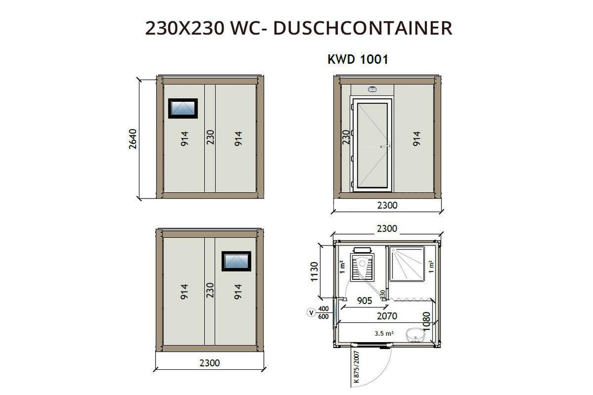 KWD1001 230x230 WC Duschcontainer