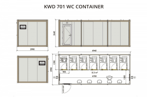 KWD701 WC Container