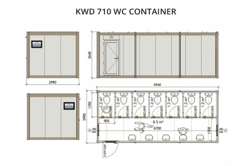 KWD710 WC Container